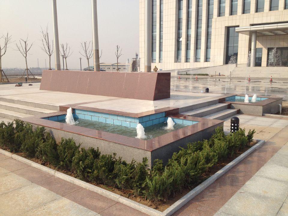 淄博淄川凯盛化工厂区景观喷泉