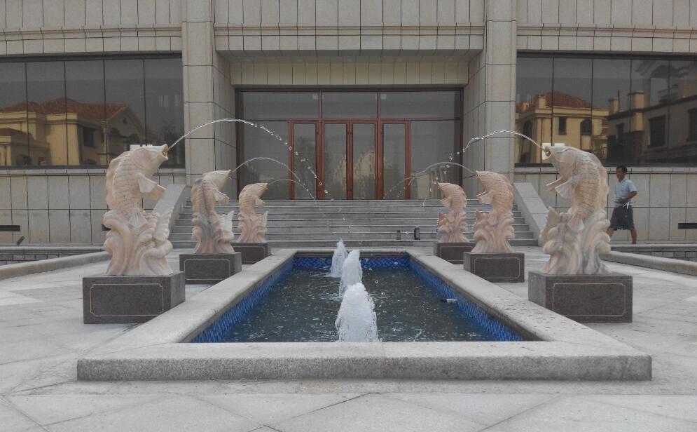 张店a水景湾别墅区水景别墅工程案例雕塑喷泉|河婆镇水景图片